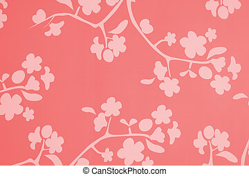 A flowery lotus blossom background in pink red and white