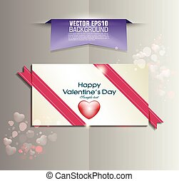 Pink ribbon and white paper design background, vector illustration