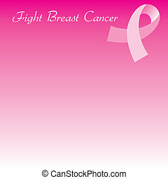 pink ribbon background - Vector Illustration for Breast...