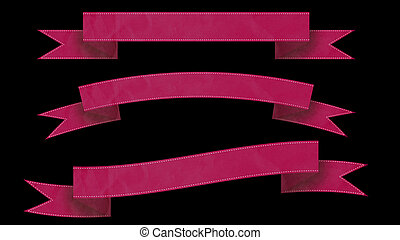Pink Ribbon banners for your text.