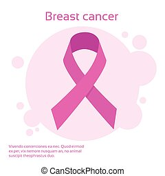 Pink Ribbon Breast Cancer Awareness Vector