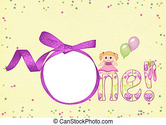 pink ribbon frame and doll