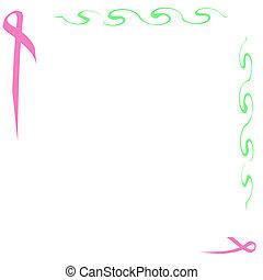 pink ribbon note