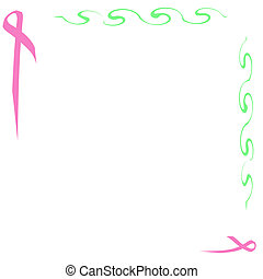 pink ribbon note