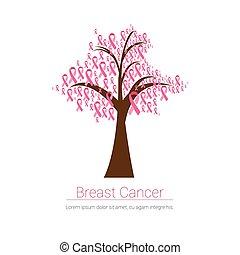 Pink Ribbon Tree Breast Cancer Awareness