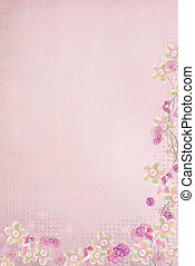 pink ribbons and floral border