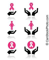 Pink ribbons - breast cancer symbol