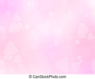 Pink romantic abstract background with hearts.