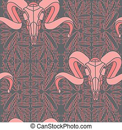 Pink romantic hand drawn seamless floral pattern.