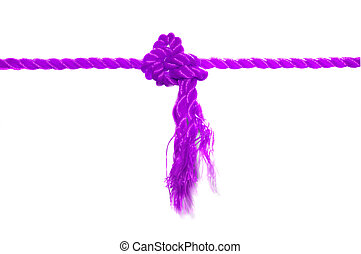 Pink rope knot
