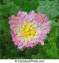 Pink rose sewing buttons image generated background
