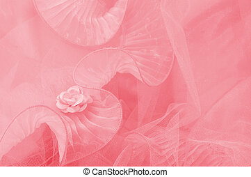 Pink rose tulle - Pink Fabric Rose - background