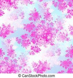 Pink rosebuds seamless pattern