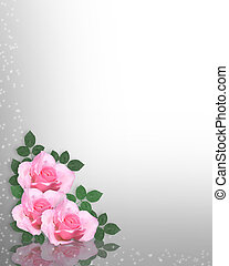 Pink Roses background or template - Image and illustration...