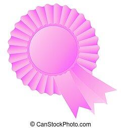pink rosette ribbon