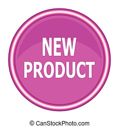 Pink round new product button