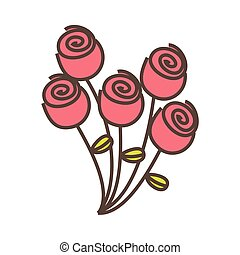 pink round roses icon