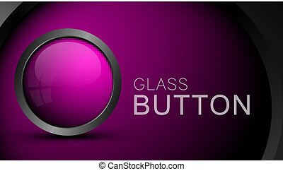 Pink round shape web button.