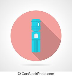 Pink round vector icon for water cooler