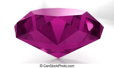 Pink ruby diamond gemstone gem stone spinning wedding...