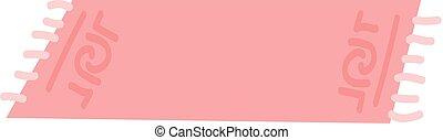 Pink rug vector illustration