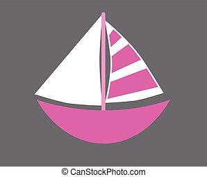 Pink Sailboat