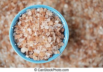 Pink Salt in Bowl