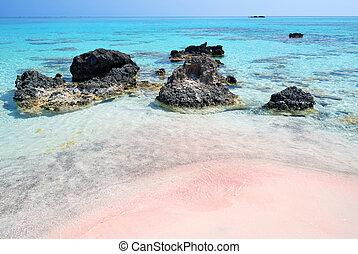 Pink Sand Beach Sea