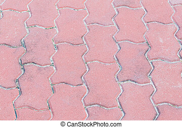 Pink sand concrete jigsaw