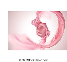 Pink satin element