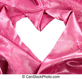 pink satin fabric with beautiful patterns of folds