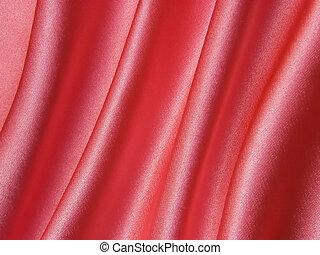 Pink satin silk fabric