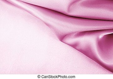 Pink satin silk