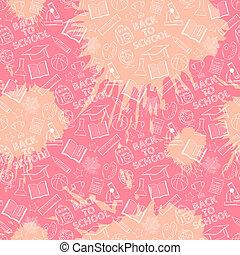 Pink school pattern