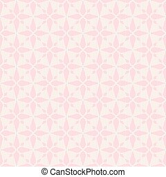 Pink seamless abstract rhombus lace pattern.