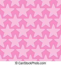 Pink Seamless Background with Stars