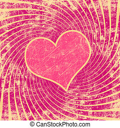 pink seamless pattern with grunge heart