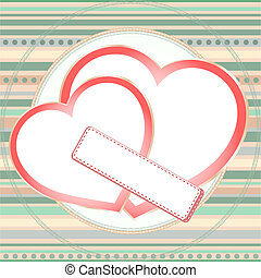 pink seamless pattern with grunge hearts. vector