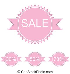Pink set of vector price tags