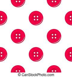 Pink sewing button pattern flat