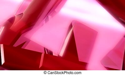 Pink shapes