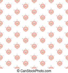 Pink sheep. Pattern.