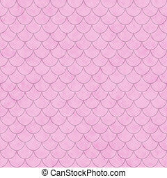 Pink Shell Tiles Pattern Repeat Background that is seamless...