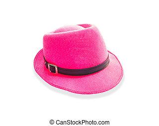 Pink shiny glitter hat