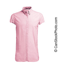 pink shirt isolated on white background