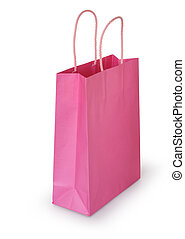 Pink shopping bag - Pink paper bag ready for shopping, ...