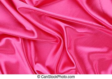 Pink silk background. Texture.