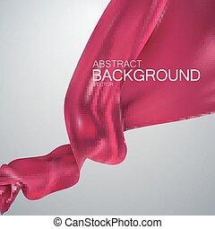 Pink silk fabric.