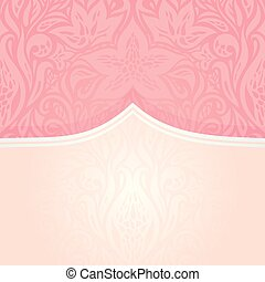 Pink silver retro decorative invitation vintage fashion wallpaper design