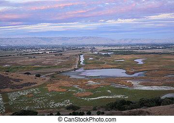 Pink Skies and Marshland Sunset